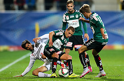 23.09.2015, Keine Sorgen Arena, Ried, AUT, OeFB Samsung Cup, SV Josko Ried vs RZ Pellets WAC, 2. Runde, im Bild Florian Hart (SV Josko Ried), Jacobo Maria Ynclan Pajares (WAC) und Patrick Möschl (SV Josko Ried) // during OeFB Cup, 2nd round Match between SV Josko Ried and RZ Pellets WAC at the Keine Sorgen Arena, Ried, Austria on 2015/09/23. EXPA Pictures © 2015, PhotoCredit: EXPA/ Roland Hackl