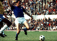"International Friendly Matchs 1973 / <br /> Italy vs Brazil 2-0 ( Olympic Stadium - Roma , Italy )<br /> Luigi Riva "" Gigi Riva "" , on action during the friendly match"