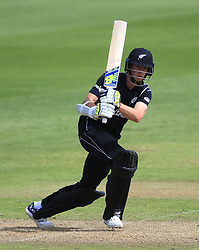 New Zealand's Tim Mitchell Santner during the ICC Champions Trophy, Group A match at Sophia Gardens, Cardiff. PRESS ASSOCIATION Photo. Picture date: Friday June 9, 2017. See PA story CRICKET India. Photo credit should read: Nigel French/PA Wire. RESTRICTIONS: Editorial use only. No commercial use without prior written consent of the ECB. Still image use only. No moving images to emulate broadcast. No removing or obscuring of sponsor logos.