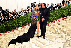 Jennifer Lopez and Alex Rodriguez attending the Metropolitan Museum of Art Costume Institute Benefit Gala 2018 in New York, USA