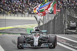 November 10, 2018 - Sao Paulo, Brazil - 44 HAMILTON Lewis (gbr), Mercedes W09 Hybrid EQ Power+ team Mercedes GP, action during the 2018 Formula One World Championship, Brazil Grand Prix from November 08 to 11 in Sao Paulo, Brazil -  FIA Formula One World Championship 2018, Grand Prix of Brazil World Championship;2018;Grand Prix;Brazil  (Credit Image: © Hoch Zwei via ZUMA Wire)