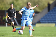 Coventry City midfielder (on loan from Derby County Luke Thomas (23) sprints forward with the ball during the EFL Sky Bet League 1 match between Oxford United and Coventry City at the Kassam Stadium, Oxford, England on 9 September 2018.