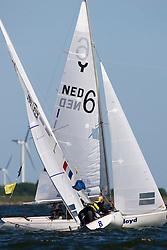 Medemblik - the Netherlands, May 29th 2009. Delta Lloyd Regatta in Medemblik (27/31 May 2009). Day 3. Rene Groeneveld (NED)..
