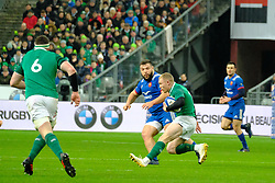February 3, 2018 - Saint Denis, Seine Saint Denis, France - The Wing of Irish team KEITH EARLS in action during the NatWest Six Nations Rugby tournament between France and Ireland at the Stade de France - St Denis - France..Ireland Won 15-13 (Credit Image: © Pierre Stevenin via ZUMA Wire)