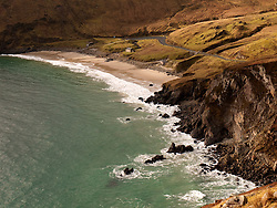 Cliffs and beach at Keem on Achill Island County Mayo Ireland