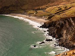 Cliffs and beach at Keem on Achill Island County Mayo Ireland