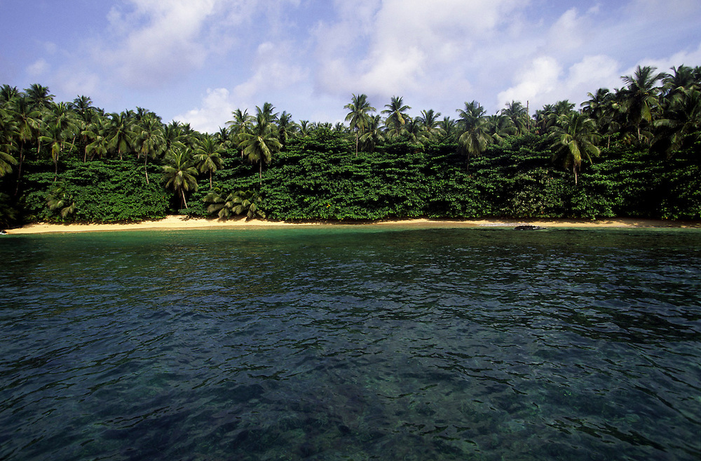 The west coast of Sao Tome island has no road acess, so the easiest way of exploring this pristine area is by boat.