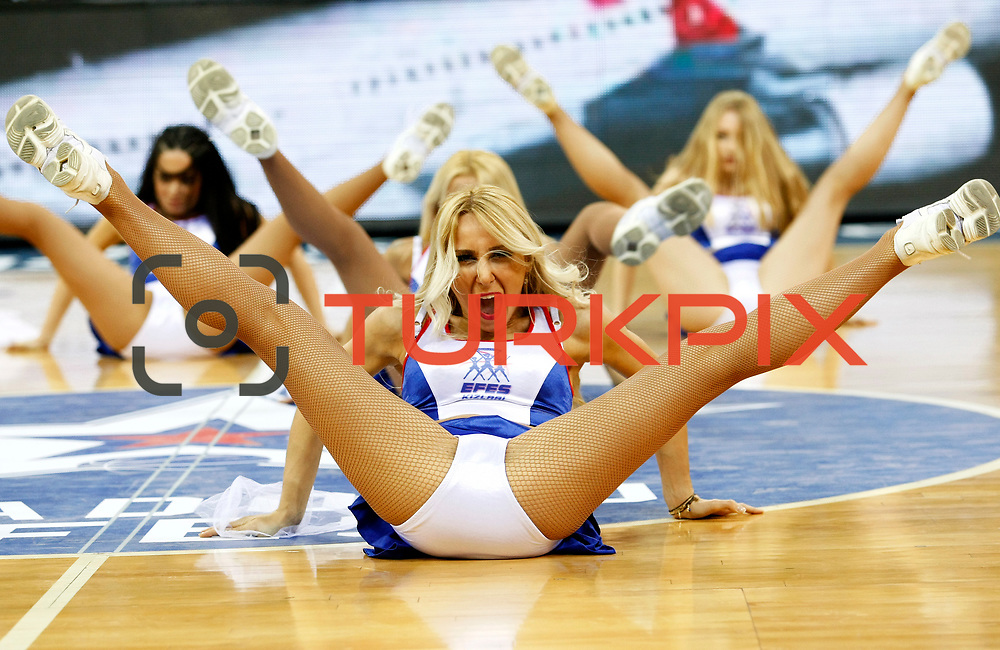 Anadolu Efes's Cheerleaders during their Turkish Airlines Euroleague Beskatball Top 16 Game 2 Anadolu Efes between Panathinaikos Athens at Abdi Ipekci Arena in Istanbul Turkey on Thursday 03 January 2013. Photo by Aykut AKICI/TURKPIX