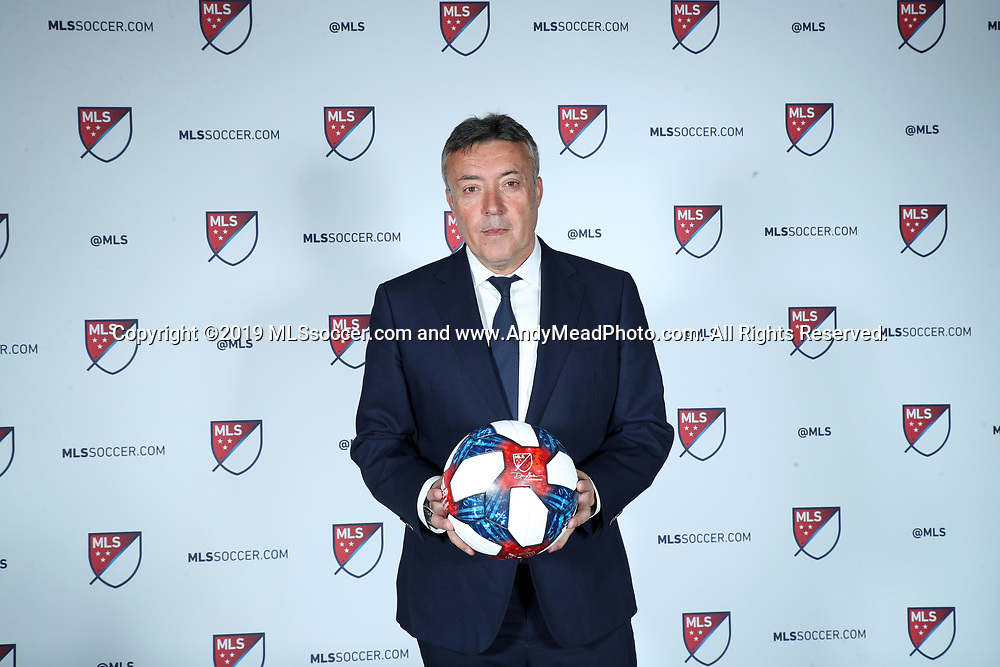 CHICAGO, IL - JANUARY 11: New York City FC head coach Domenec Torrent. The MLS SuperDraft 2019 presented by adidas was held on January 11, 2019 at McCormick Place in Chicago, IL.