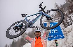 Riders at Vrsic during 3rd Stage from Soca to Prevalje, 230km at Day 3 of DOS 2021 Charity event - Dobrodelno okrog Slovenije, on April 29, 2021, in Slovenia. Photo by Vid Ponikvar / Sportida