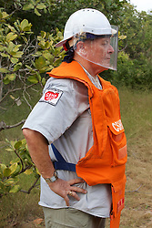 Bill Morse Observing Demining Operations