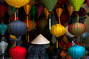 Chinese lanterns for sale in a shop in Hoi An