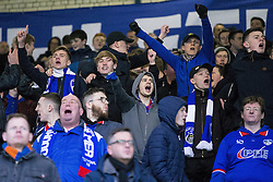 © Licensed to London News Pictures . 23/01/2016 . Oldham , UK . Oldham fans . Oldham Athletic vs Bury at Boundary Park . Photo credit : Joel Goodman/LNP