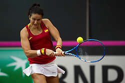 February 11, 2018 - Chieti, CH, Italy - Lara Arruabarrena of Spain team during 2018 Fed Cup BNP Paribas World Group II First Round match between Italy and Spain at Pala Tricalle ''Sandro Leombroni'' on February 11, 2018 in Chieti, Italy. (Credit Image: © Danilo Di Giovanni/NurPhoto via ZUMA Press)