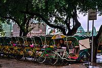 Cyclist Blending & Waiting in the Rain
