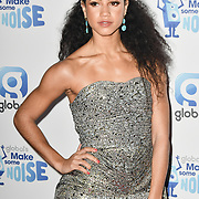 Vick Hope arrivers at the Global's Make Some Noise Night at Finsbury Square Marquee on 20 November 2018, London, UK.