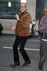Jeff Goldblum arriving at BBC Radio Two - 5 Oct 2018