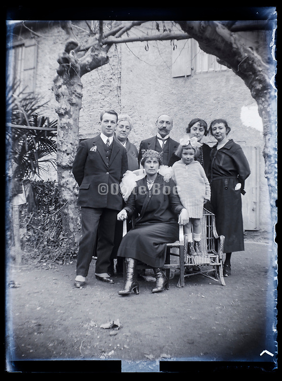 outdoors family portrait France 1923