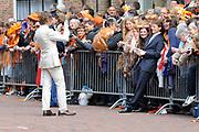 Koninginnedag 2010 . De Koninklijke familie in het zeeuwse  Middelburg. / Queensday 2010. De Royal Family in Middelburg.<br /> <br /> op de foto / on the photo: Prins Bernhard en Prins Pieter-Christiaan