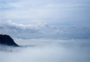 Clouds rolling over Mount Tamalpais in Northern California.