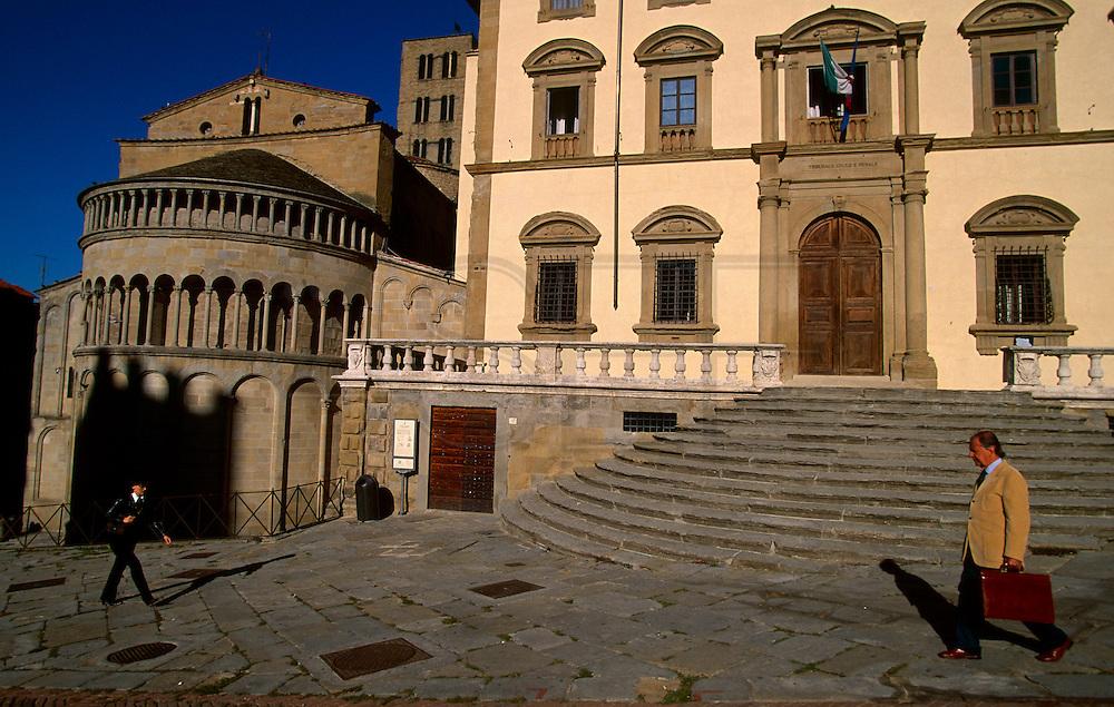 Piazza Grande in Arezzo.
