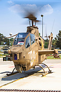 Israeli Air force (IAF) helicopter, Bell AH-1 Cobra on the ground