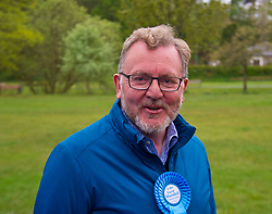 Pictured: David Dundell<br /> <br /> Scottish Tory leader Ruth Davidson and Scottish Secretary David Mundell took to the campaign trail in West Linton today.<br /> <br /> Ger Harley | EEm 13 May 2017