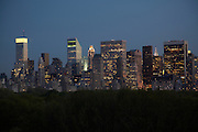 Night view of Central Park and midtown from 211 Central Park South