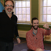 """Director/playwrite Kent Stephens and Christopher Reiling (Seth) in a rehearsal for Stephen's """"Love and Faith and Other Dirty Words"""""""