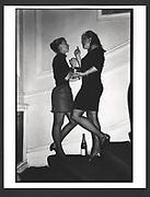 Carolyn Wroughton and Shona McKinney at Jo Farrell's 30th birthday party. Polish Club. London. 1988.Exhibition in a Box