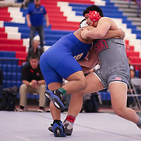 Cohle Feliciano of Fremont wrestles in the CCS Wrestling Championships (Photo by Bill Gerth)