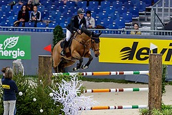 DEVOS Pieter (BEL), Espoir<br /> Genf - CHI Geneve Rolex Grand Slam 2019<br /> Prix des Vins de Genève<br /> Internationales Springen Fehler/Zeit<br /> International Jumping Competition 1m45<br /> Table A: Against the Clock<br /> 12. Dezember 2019<br /> © www.sportfotos-lafrentz.de/Stefan Lafrentz