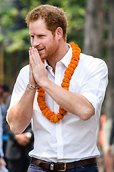 File photo dated 23/03/16 of Prince Harry greeting students and staff at the Samo Thimi Technical School, Bhaktapur, Nepal.