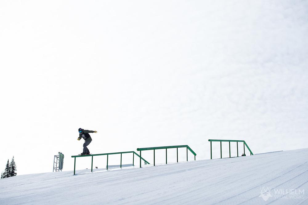 Emil Ulsletten during Snowboard Slopestyle Eliminations during 2015 X Games Aspen at Buttermilk Mountain in Aspen, CO. ©Brett Wilhelm/ESPN