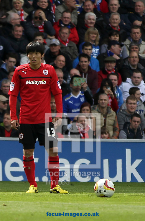 Picture by Mike  Griffiths/Focus Images Ltd +44 7766 223933.27/04/2013.Kim Bo-Kyung of Cardiff City against Bolton Wanderers during the npower Championship match at the Cardiff City Stadium, Cardiff.