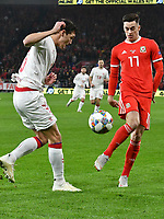 Football - 2018 / 2019 UEFA Nations League B - Group Four: Wales vs. Denmark<br /> <br /> Thomas Delaney of Denmark & Tom Lawrence of Wales, at Cardiff City Stadium.<br /> <br /> COLORSPORT/WINSTON BYNORTH