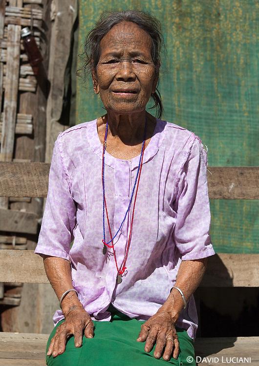 Miss Ma Boar, an elderly tattooed Chin woman i met in a Chin village along Lemro River.