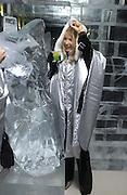 Oksana Kolomenskaya. Opening of the Absolut Icebar. Heddon St. London. 29 September 2005. ONE TIME USE ONLY - DO NOT ARCHIVE © Copyright Photograph by Dafydd Jones 66 Stockwell Park Rd. London SW9 0DA Tel 020 7733 0108 www.dafjones.com