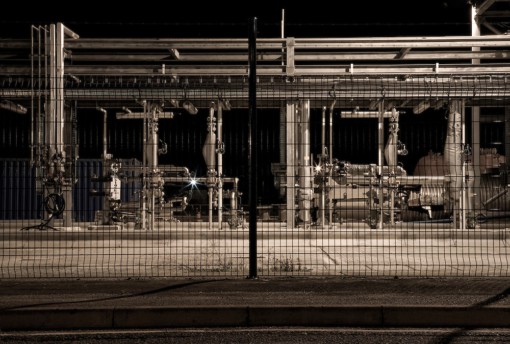 Industrial Pipes at a factory