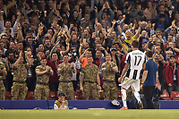 Mario Mandzukic of Juventus celebrates scoring during the UEFA Champions League Final match between Real Madrid and Juventus at the National Stadium of Wales, Cardiff, Wales on 3 June 2017. Photo by Giuseppe Maffia.<br /> <br /> Giuseppe Maffia/UK Sports Pics Ltd/Alterphotos