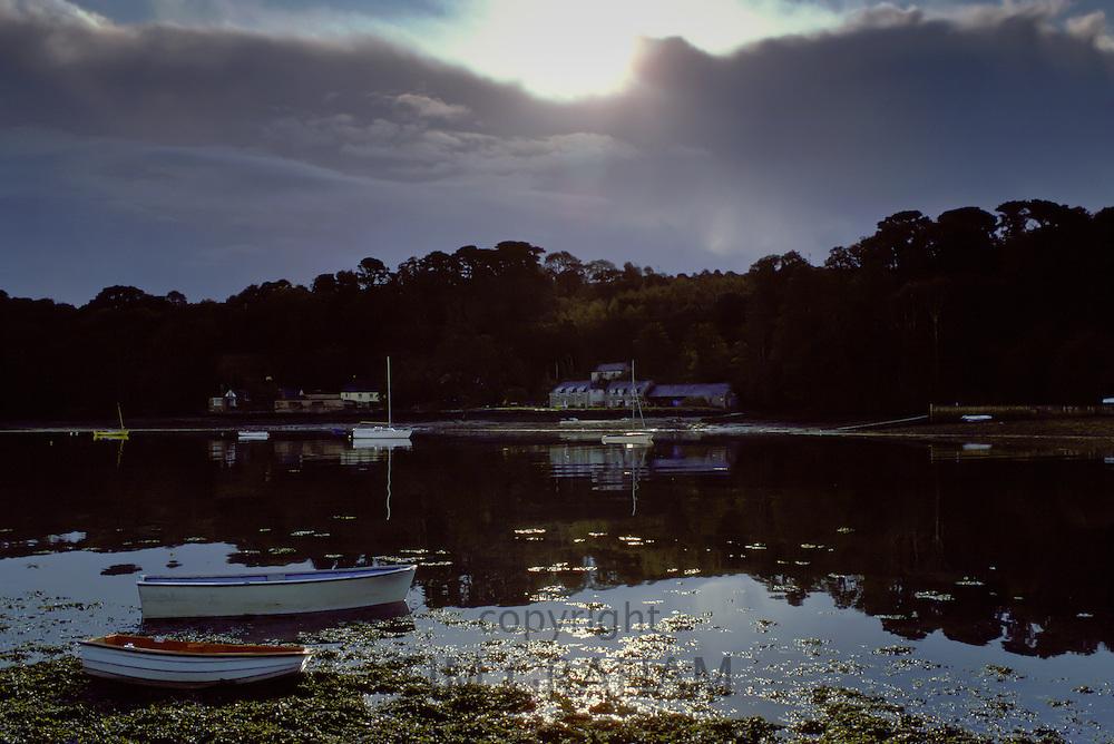 Dawn at Helford Estuary in Cornwall, United Kingdom