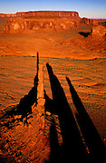 Aerial image of Totem Pole, Monument Valley Navajo Tribal Park with Mittens and buttes, Arizona and Utah, American Southwest by Randy Wells