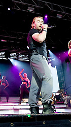 Ronan Keating of Boyzone, the Irish vocal pop group, perform on stage at Edinburgh Castle, July 18, 2008