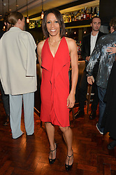 DAME KELLY HOLMES at a dinner to celebrate 20 years of Maria Grachvogel's fashion label held at Salmontini, 1 Pont Street, London on 22nd October 2014.