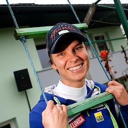 20111110: SLO, Biathlon - Teja Gregorin at rebuilded house in Hotemaze
