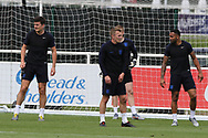 England midfielder James Ward-Prowse and team mates during the training session for England at St George's Park National Football Centre, Burton-Upon-Trent, United Kingdom on 28 May 2019.