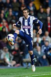 Morgan Amalfitano (FRA) of West Brom in action - Photo mandatory by-line: Rogan Thomson/JMP - 07966 386802 - 12/04/2014 - SPORT - FOOTBALL - The Hawthorns Stadium - West Bromwich Albion v Tottenham Hotspur - Barclays Premier League.