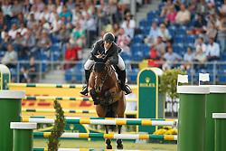 Alvarez Aznar Eduardo, (ESP), Rokfeller de Pleville Bois Margot<br /> Team completion and 2nd individual qualifier<br /> FEI European Championships - Aachen 2015<br /> © Hippo Foto - Dirk Caremans<br /> 20/08/15