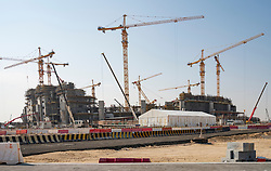 Construction of Lusail Stadium for Fifa World Cup 2022 in. new town at City City in Doha, Qatar