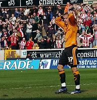 Photo: Kevin Poolman.<br />Wolverhampton Wanderers v Southampton. Coca Cola Championship. 31/03/2007. Michael Kightly of Wolves after his penalty was saved.